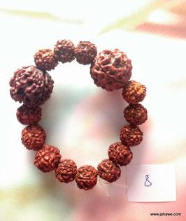 Rudrakshaarmband 2 x 4 Augen und kleine 5er Rudrakshas. aus nepal.
