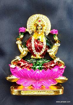 Maha Lakshmi Statue Murhti ca 8 cm hoch und 5 cm breit.Ganz feine farben und Kristalle die funkeln.