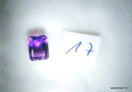 Amethyst Smaragdschliff 4,5 carat Indien