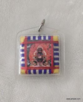 schwarzer Mahakala, tibetisches Schutzamulett 34 x 34mm