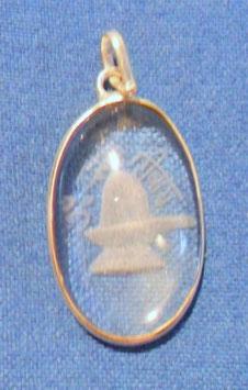 Bergkristallmedallion Shiva Lingam