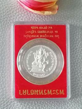 Phra Prom Medaillie von LP Hong in Silber
