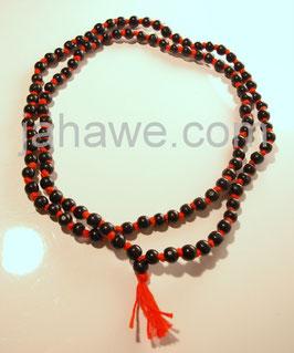 Tulsi Mala aus Indien  schwarze 108 Perlen