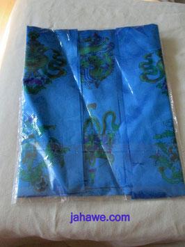 Schal mit buddhistsichen Symbolen. Ornamente wie auf den oberen Schals
