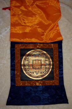 Thangka Kalachakra 31 x 39 cm dunkelblauer Rand