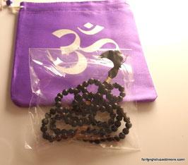 schwarze Ebenholzmala 108 Perlen und eine Guruperle