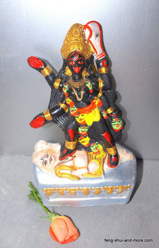 Maha Kali aus Ton Handbemalt