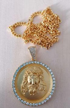 Anhänger Jesus Christus mit Kette Metall  mit Zirkonia