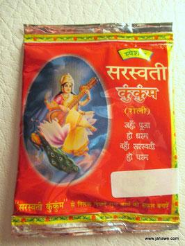 Sindor oder KumKum rotes Pujapulver zur Verehrung der göttlichen Mutter