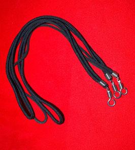 Schwarze Amulettkordel für ein Amulet