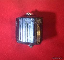 Turmalinanhänger Schutzstein oder auch Schörl genannt . 2,7 cm x 2,7 cm