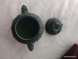 Ein Räuchergefäß mit Deckel Bronzeguss  ca 9 cm breitca 9 cm hoch