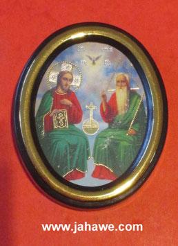 echte geweithe russische  Ikone 3 Einigkeit in einem Kloster in Kiew