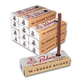 Padmini Räucherstäbchen gibt es seit über 30 Jahren  kleine Packung mit 10 Stäbchen