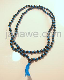 Tulsi Mala aus Indien Holz schwarz gefärbt. 108 Perlen