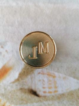 Petschaft Monogramm ML Durchmesser 3,2 cm