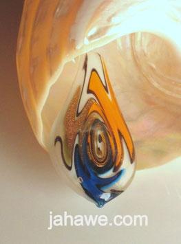 Glaskunstanhänger  Rot Blau Muranoglas