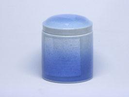 銀彩(青) 骨壺