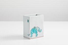 82-003 親子象の図 3.8号四方器