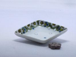 TK-018 グリーン桜 菱型香皿