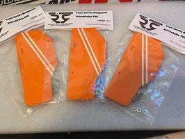 Mudguards Unbreakable Orange / Weiß - passend für Team Corally