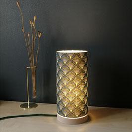 LAMPE A POSER SOCLE Art déco Vert