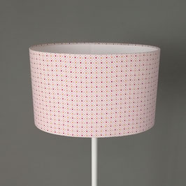 Abat-jour ovale géométrique rose pâle