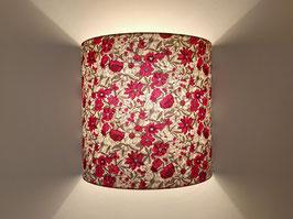 APPLIQUE MURALE Fleurs Louise rouges