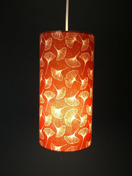 Abat-jour Suspension tube Gingko Orange