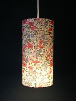 Abat-jour Suspension tube Liberty Poppy and Daisy Hortensias