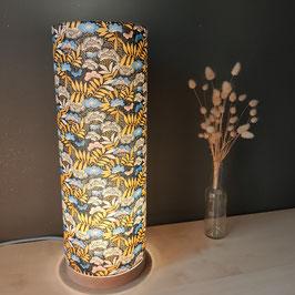 LAMPE A POSER SOCLE TROPICAL NOIR