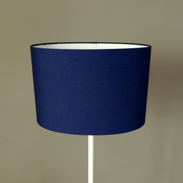 Abat-jour ovale uni bleu marine