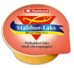 Stabburet Stabbur-Laks Laks finhakket m/sitronpepper 22 g