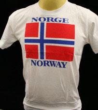 Flagg T-Shirt hvit