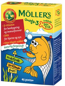 MØLLERS GELEFISKER OMEGA3 45STK
