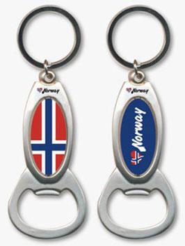 Norge Schlüsselanhänger mit Flaschenöffner