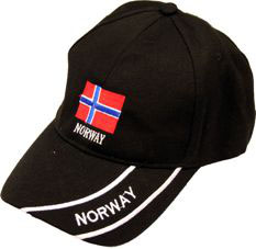 Norges Kolleksjon, caps med Flagg sort