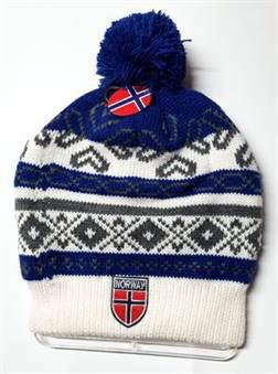 Norges kolleksjon, strikkelue Alaska blå