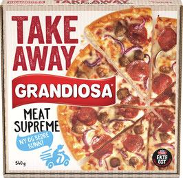 PIZZA GRANDIOSA TAKE AWAY MEAT SUPREME 540g