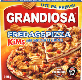 PIZZA GRANDIOSA FREDAGSPIZZA 540G