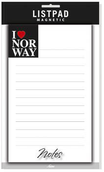 "NOTATBLOKK, ""I LOVE NORWAY"""