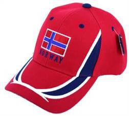 Norges Kolleksjon, caps m/flagg, rød