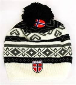 Norges kolleksjon, strikkelue, Alaska, sort