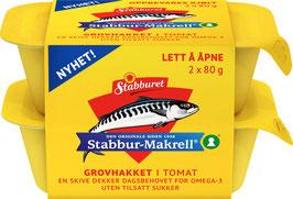 STABBUR-MAKRELL HAKKET I TOMAT 2X80G