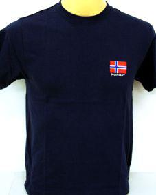 Norges Kolleksjon, T-Shirts, Brodert flagg
