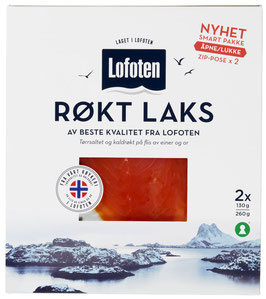 LAKS RØKT SKIVET 260G LOFOTEN