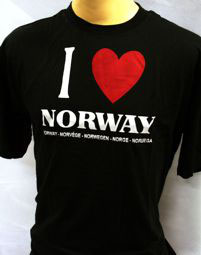 T-Shirts, Love Norway