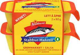 STABBUR-MAKRELL HAKKET I SALSA 2X80G