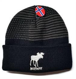 Norges kolleksjon, strikkelue Elg sort