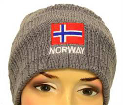 Norges kolleksjon, lue m/brodering, grå